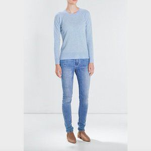 Trenery Blue Wool Cashmere Knit Jumper Size XS
